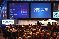 GOODING & COMPANY POSTS RECORD-BREAKING RESULTS OF $64.2 MILLION AT 2008 PEBBLE BEACH CONCOURS D'ELEGANCE AUCTIONS
