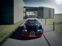 Bugatti Veyron Grand Sport Vitesse Black and Red