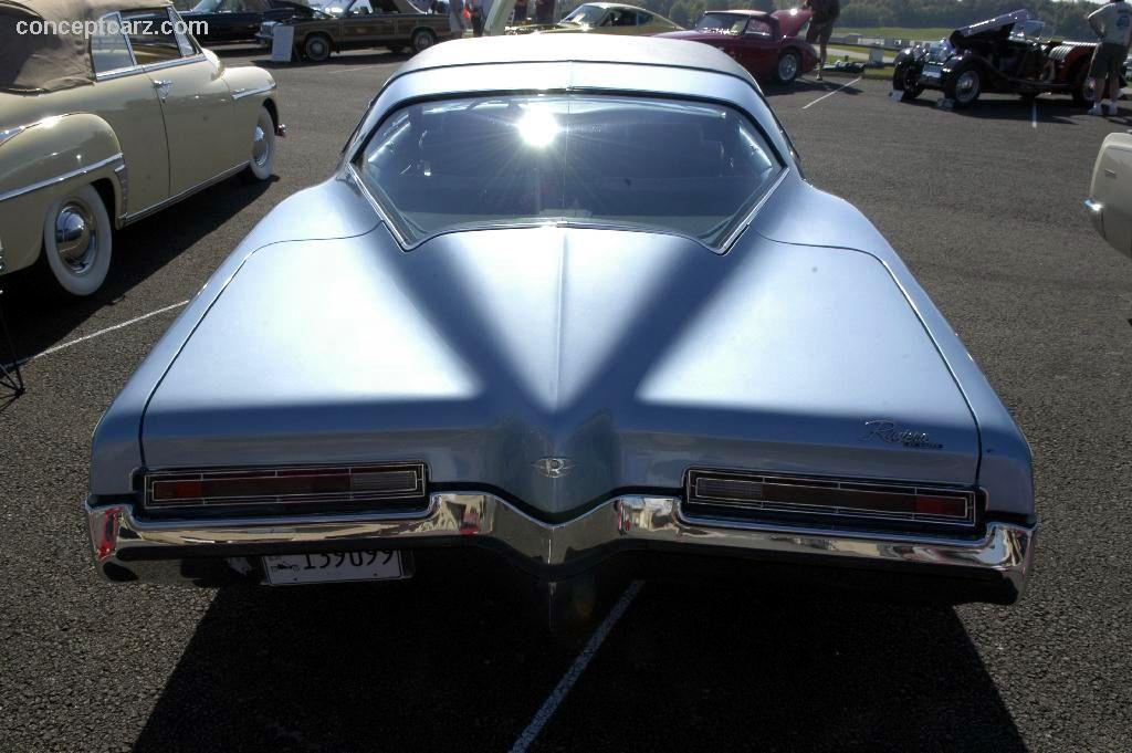 The images shown are representations of the 1972 Buick Riviera Series
