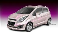 2013 Chevrolet Pink Out Spark Cancer Awareness Concept image.