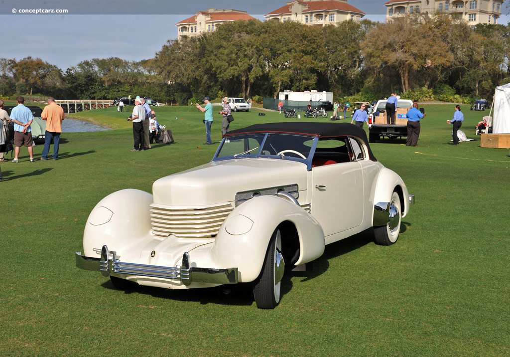 Note the images shown are representations of the 1937 cord 810 and
