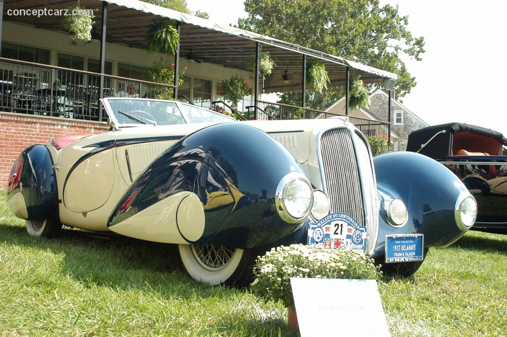 1939 delahaye type 135 m at the the 100 motor cars of