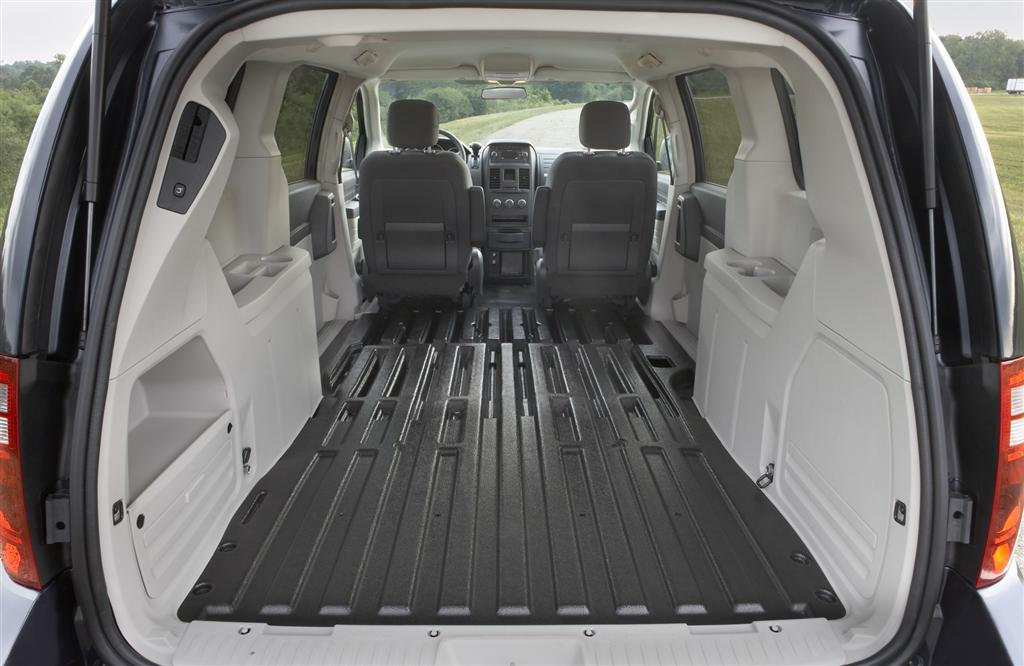 Cargo space of a chrysler minivan