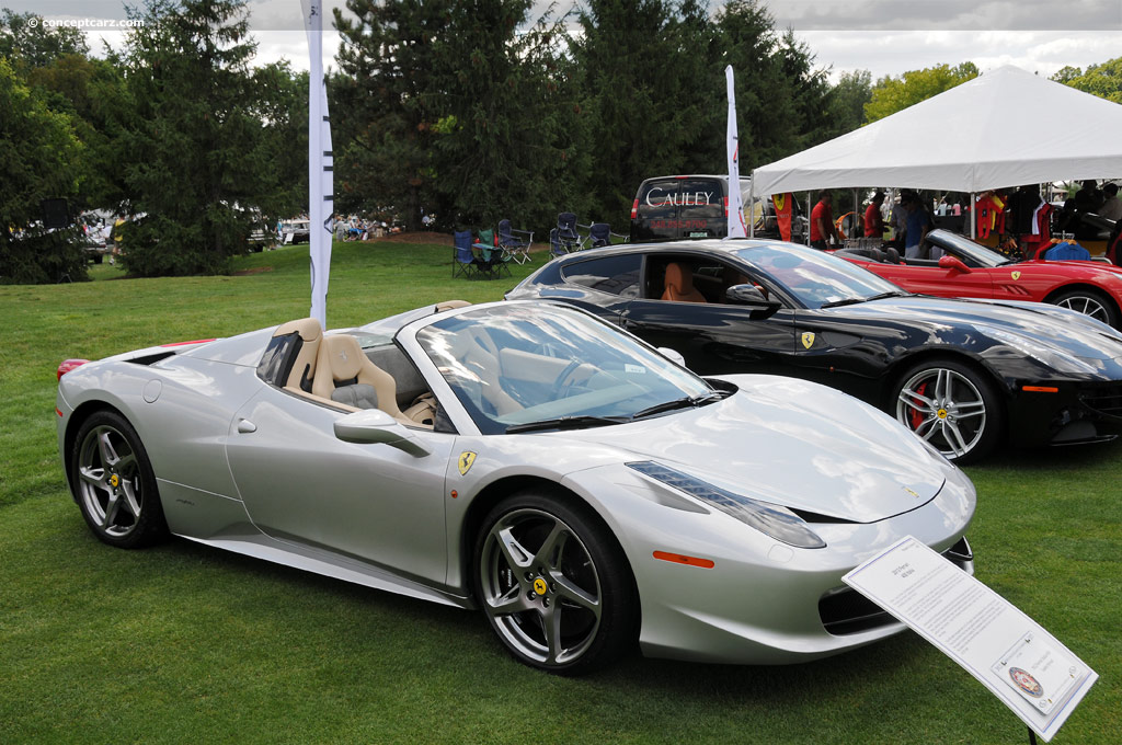 2012 ferrari 458 italia at the concours d 39 elegance of america at st. Cars Review. Best American Auto & Cars Review