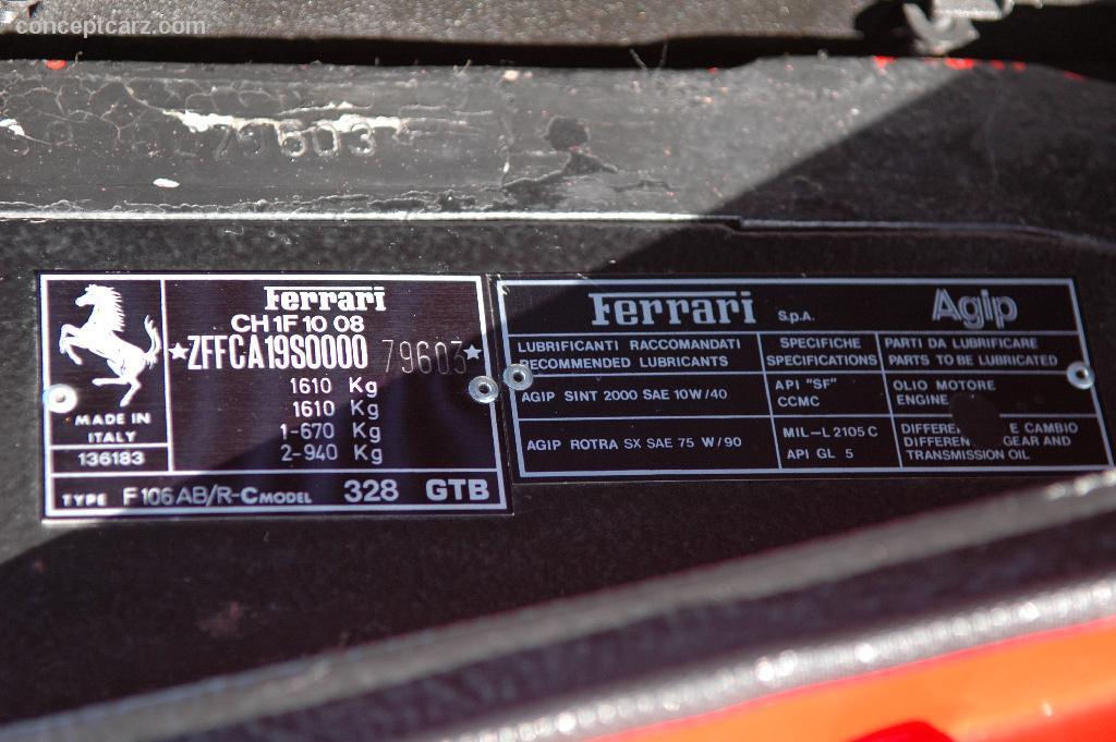 1989 Ferrari 328 GTB Image