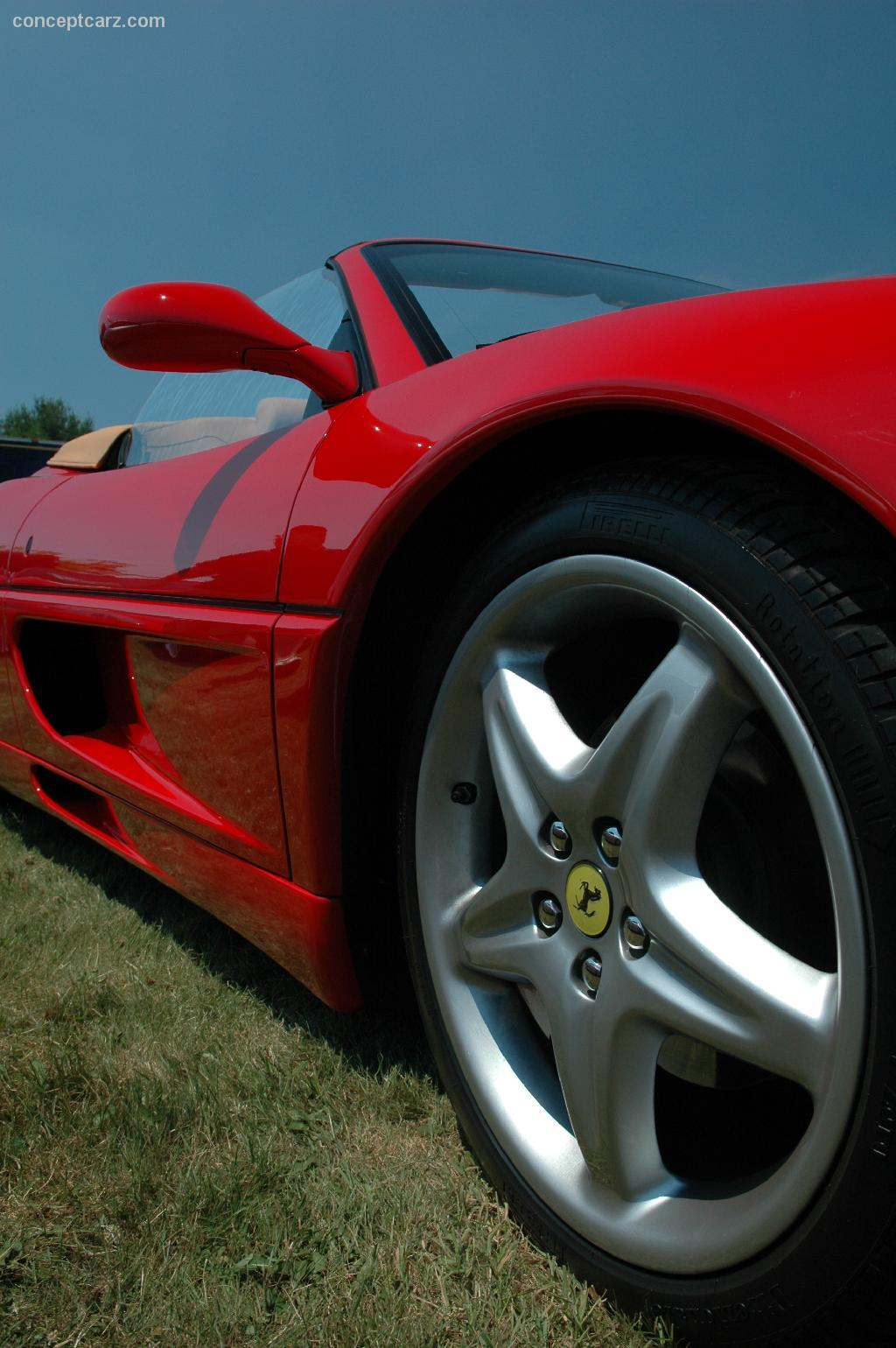 Note the images shown are representations of the 1996 ferrari f355