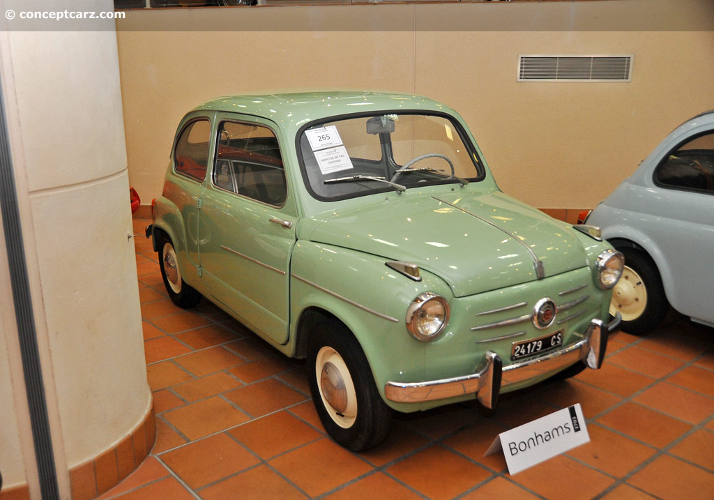 1957 fiat 600 pictures history value research news. Black Bedroom Furniture Sets. Home Design Ideas