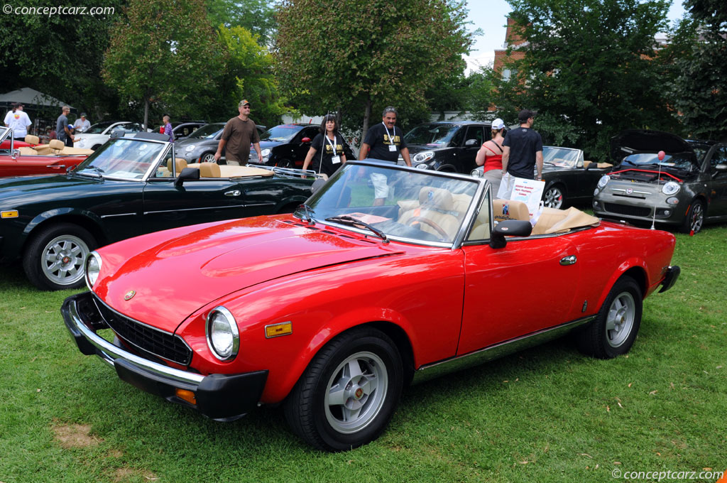 auction results and data for 1979 fiat 124 spider 2000. Black Bedroom Furniture Sets. Home Design Ideas