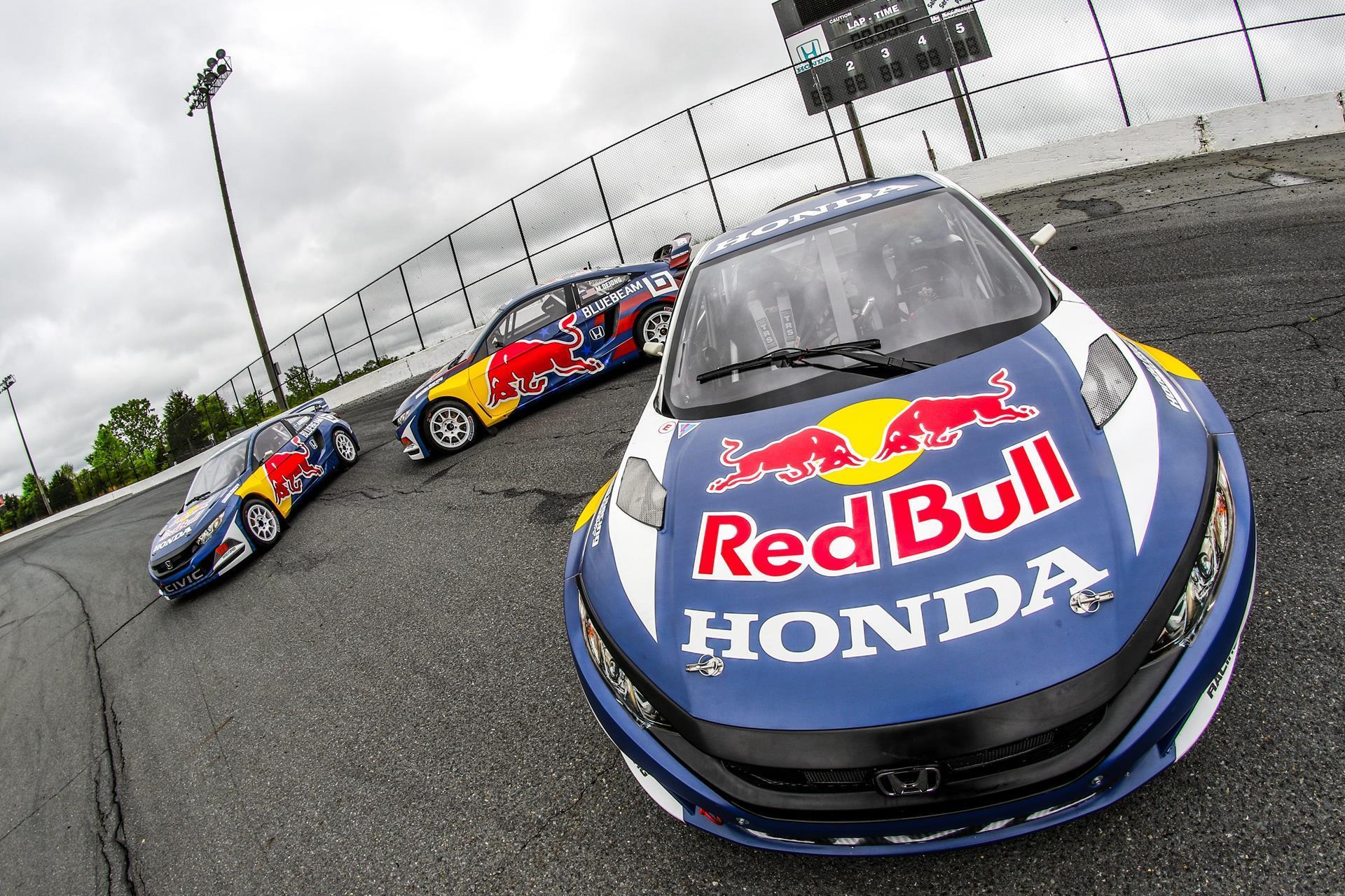 2016 honda civic coupe red bull global rallycross race car debuts in - 2016 Honda Civic Coupe Red Bull Global Rallycross Race Car Debuts In 53