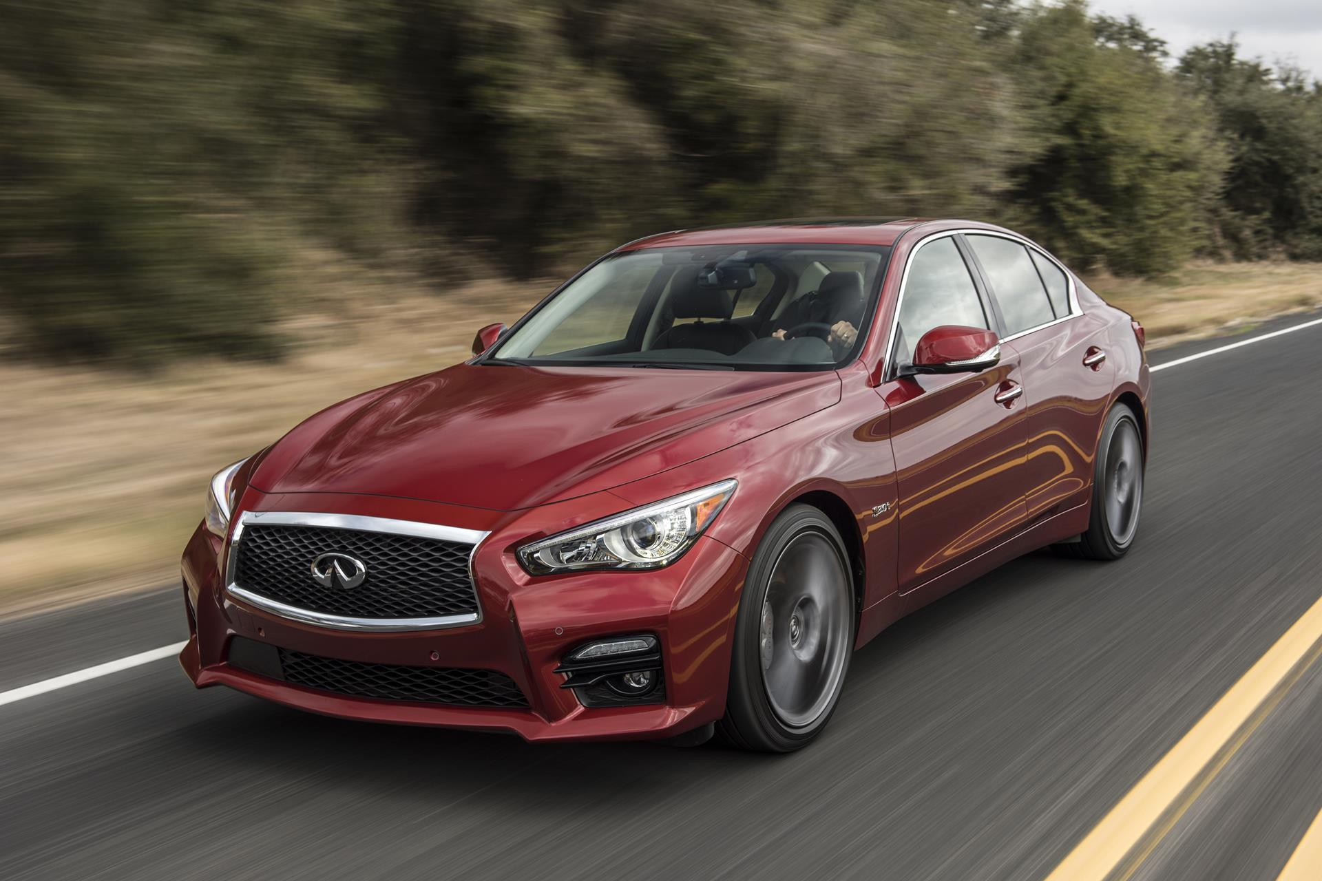 Infiniti Q50 Red Sport 400 pictures and wallpaper