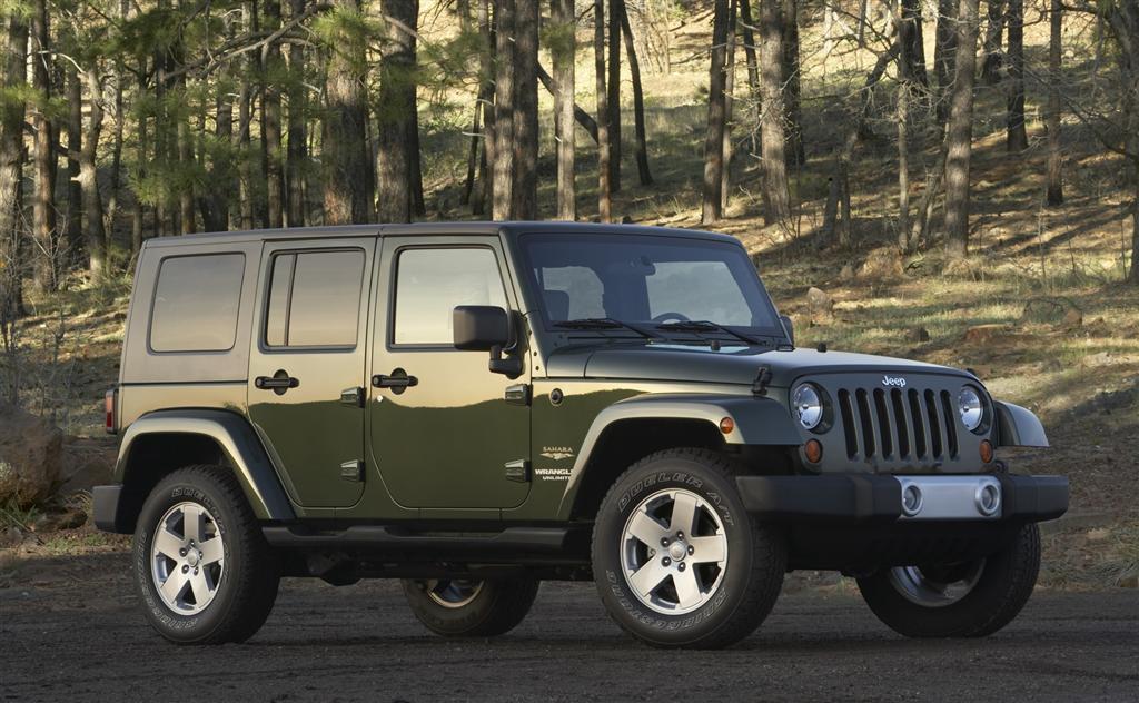 Green Jeep Wrangler