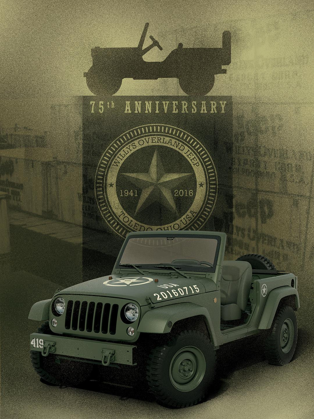 Jeep Wrangler 75th Salute Edition Concept pictures and wallpaper