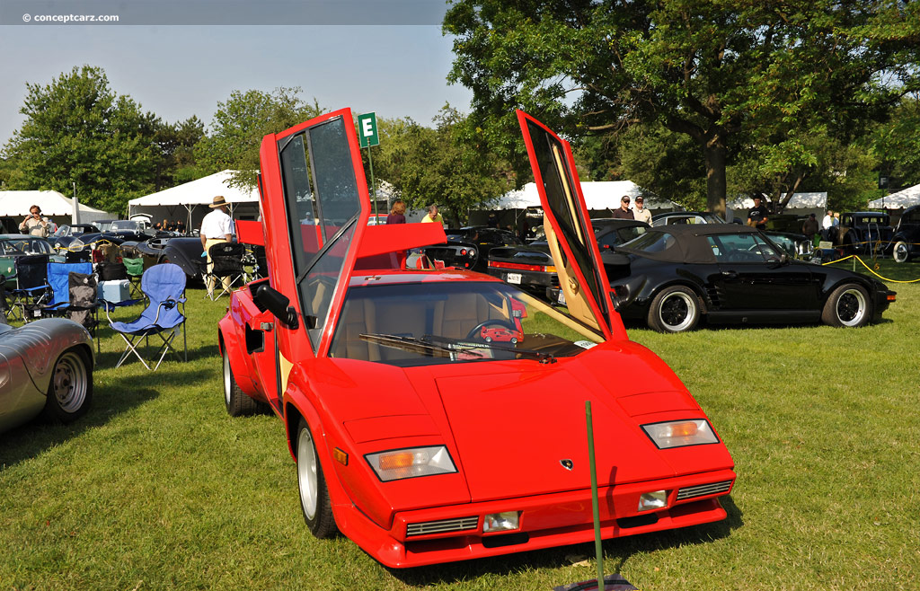 1985 lamborghini countach at the greenwich concours european cars. Black Bedroom Furniture Sets. Home Design Ideas