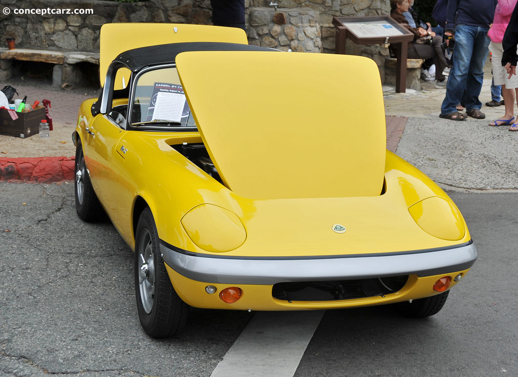 1965 Lotus Elan S2 at the Carmel By The Sea Concours on the Avenue