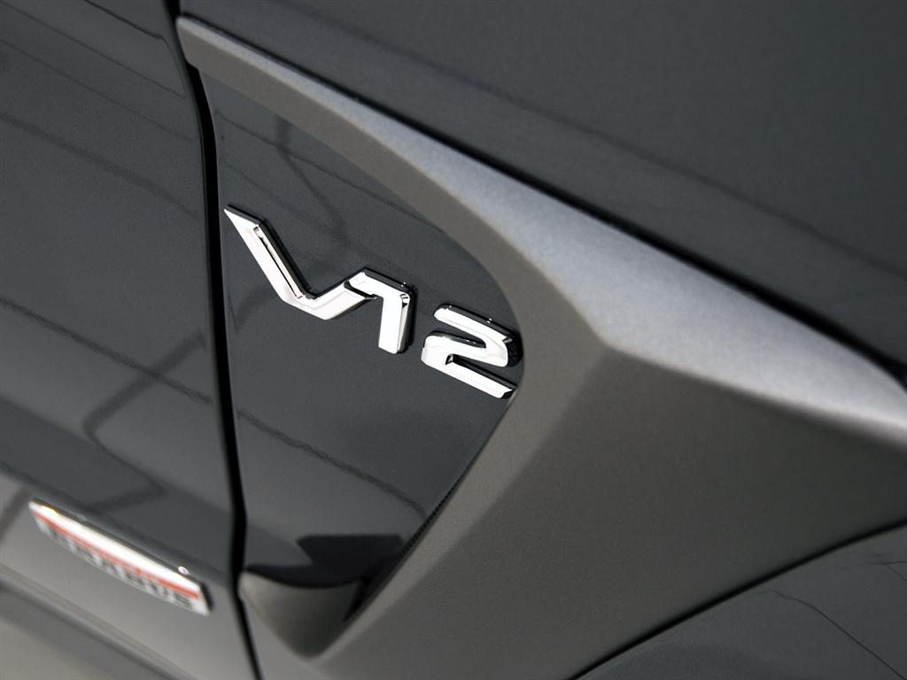 The interior of the GLK V12  V12 Logo