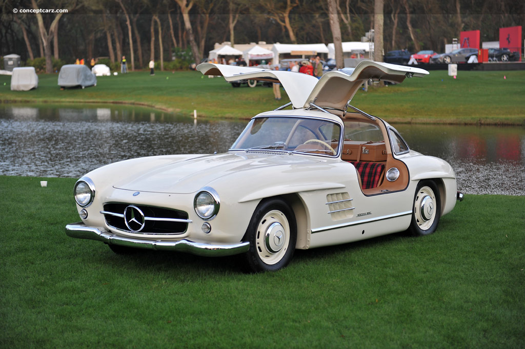 1955 mercedes benz 300 sl gullwing at the 17th annual amelia island concours d 39 elegance. Black Bedroom Furniture Sets. Home Design Ideas