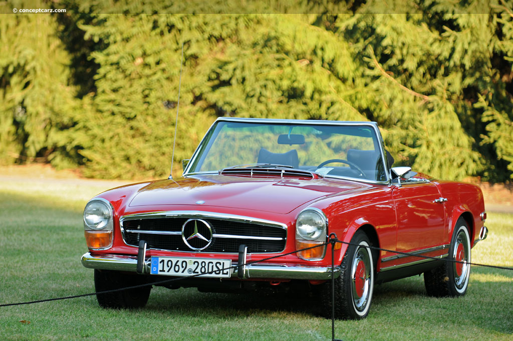 auction results and data for 1969 mercedes benz 280 sl. Black Bedroom Furniture Sets. Home Design Ideas