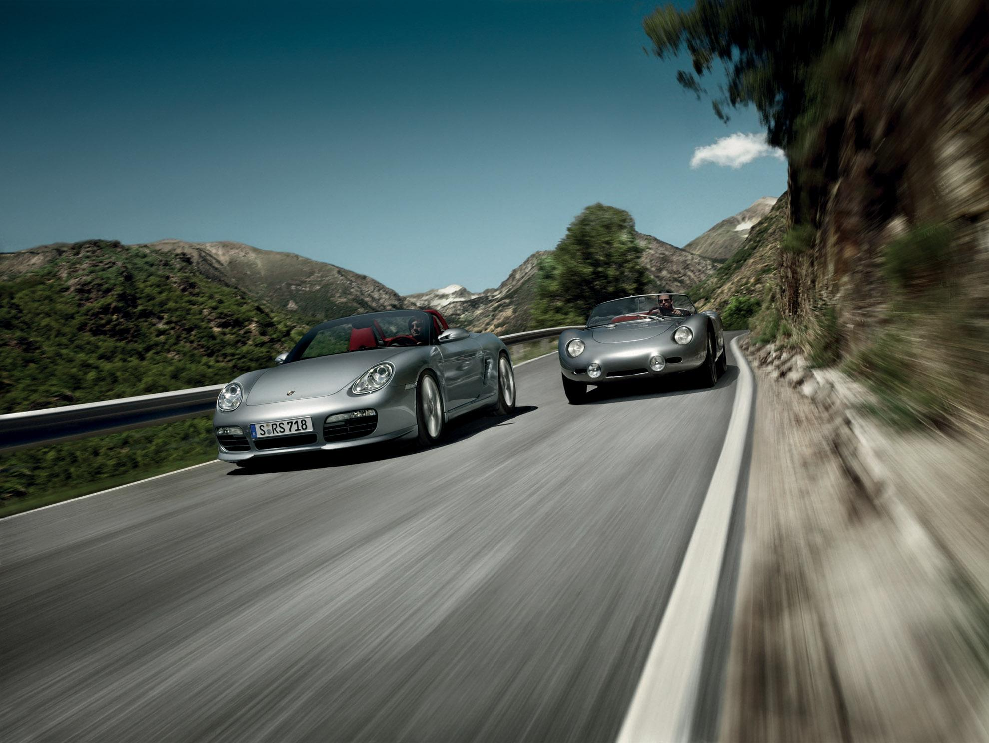 porsche the boxster concept Porsche celebrates 70 years with an open-top concept, over 500 hp and retro styling.