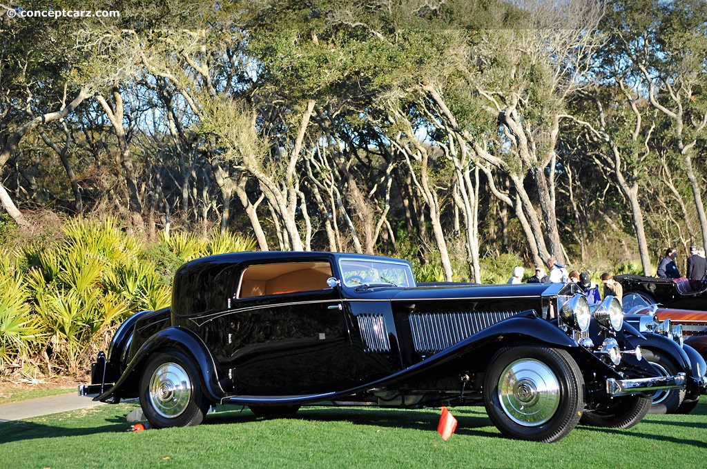 1933 rolls-royce phantom ii continental at the amelia island