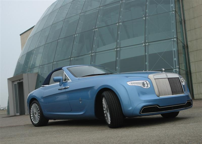 sports cars fans: one-off rolls-royce hyperionpininfarina up for
