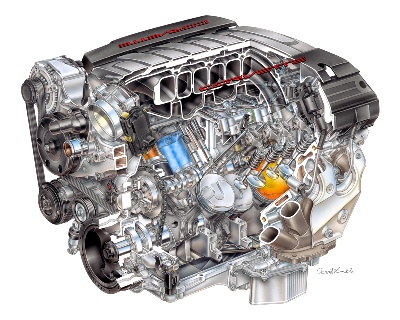 ALL-NEW 2014 CORVETTE LT1 V-8 A TECHNOLOGICAL POWERHOUSE