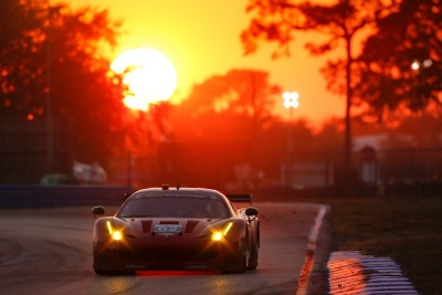 A 458 ITALIA ON THE PODIUM AT SEBRING