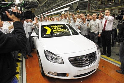500,000th Opel Insignia Built at Rsselsheim