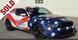 $1,000,200 raised for Wounded Warriors Family Support Through Auction of Shelby GT500 at Barrett-Jackson Auction