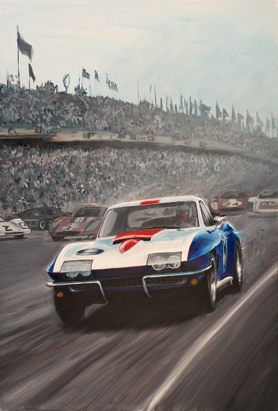 1967 Chevrolet Corvette Le Mans Racer Serves As Inspiration For Rolex Monterey Motorsports Reunion Poster Art
