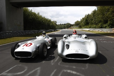 Classic and Modern Silver Arrows at Hockenheim
