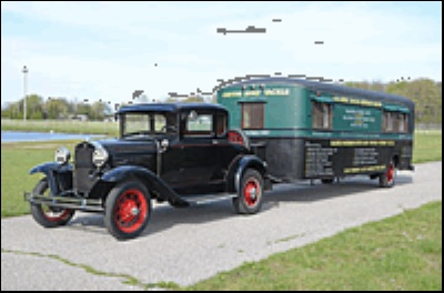 Ford Model A And Vintage Trailer Haul Fishing Gear and Nostalgia to Auctions America By RM's 2012 Auburn Fall Auction
