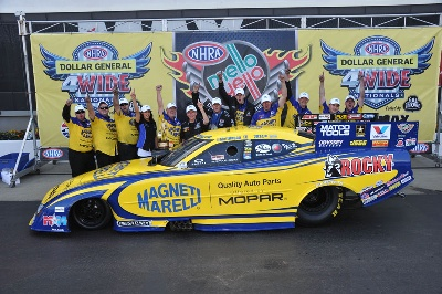 Hagan Drives Magneti Marelli Offered By Mopar' To 4-Wide Nhra National Win