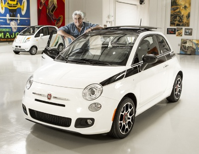 Jay Leno offers his 2012 Fiat 500 Prima Edizione at Gooding & Company's Pebble Beach Auctions in support of Fisher House Foundation