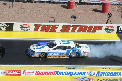 JOHNSON EARNS SECOND CONSECUTIVE NHRA NATIONAL TITLE AND THIRD WIN AT LAS VEGAS