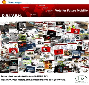 Vote for the Future of Mobility with Local Motors in Partnership with Shell GameChanger