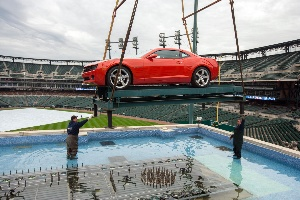 Malibu Eco, Camaro Adorn Chevrolet Fountain in 2012