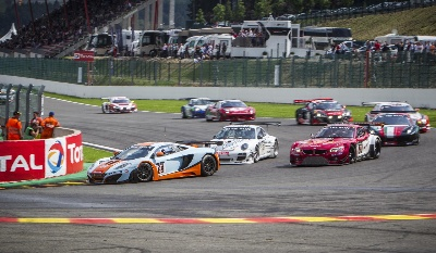 POLE POSITION AND A DOUBLE FINISH FOR 12C GT3 AT THE GRUELLING TOTAL 24 HOURS OF SPA