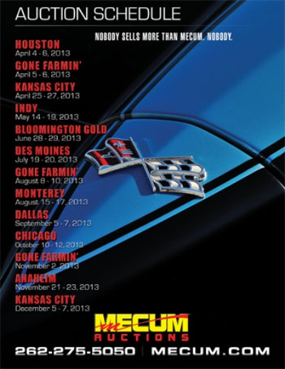 Mecum Auctions' 2013 Auction Schedule