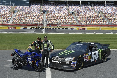 Motogp Legend Valentino Rossi Carjacks Kyle Busch'S #54 Monster Energy Nascar Nationwide Series Toyota Camry