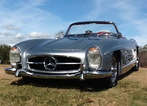NATALIE WOODS MERCEDES-BENZ 300SL COMPETES AT 17TH ANNUAL AMELIA ISLAND