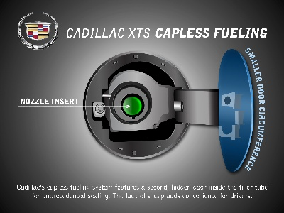 XTS Capless Fueling Keeps Hands and Paint Clean