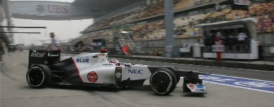 Chinese GP Qualifying : Sauber F1 Team