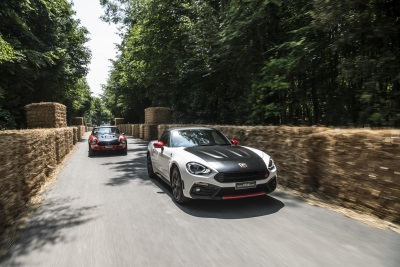 124 SPIDER MAKES DYNAMIC DEBUT AS ABARTH SHOWCASES FUTURE AND PAST AT GOODWOOD
