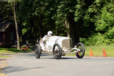 Vintage Race Cars Rev Their Engines Readying for the Grand Ascent Hill Climb