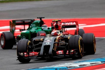 Pastor Maldonado equals his best race finish so far this season at German GP