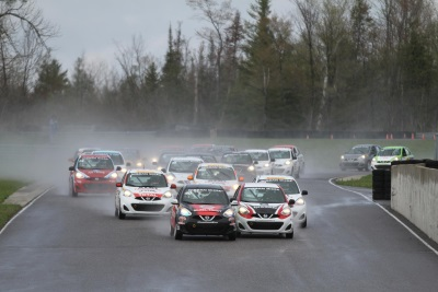 DRIVERS OVERCOME RAIN AND COLD TO PUT ON A SPECTACULAR SHOW AT THE 2016 NISSAN MICRA CUP SEASON OPENER