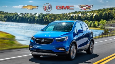 BIG NOVEMBER GAINS AT CHEVROLET, BUICK, GMC AND CADILLAC KEEP GM THE FASTEST GROWING AUTOMAKER