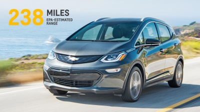 BOLT EV OFFERS 238 MILES OF RANGE