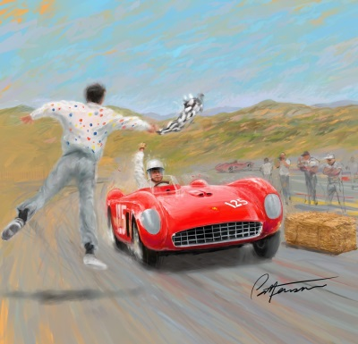 Rolex Monterey Motorsports Reunion Reveals Poster Art Celebrating 60Th Anniversary With First Car To Win At Laguna Seca