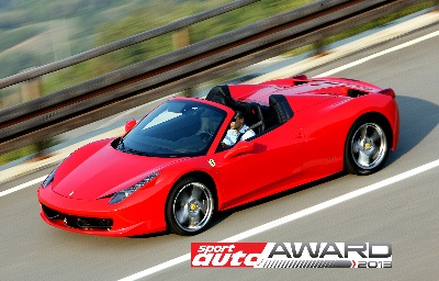 458 Spider Receives Sport Auto Award For Best Cabrio